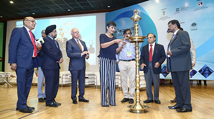 Lighting of Lamp by H.E. Ms. Harinder Sidhu